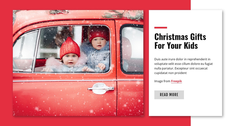 Christmas gift for kids One Page Template