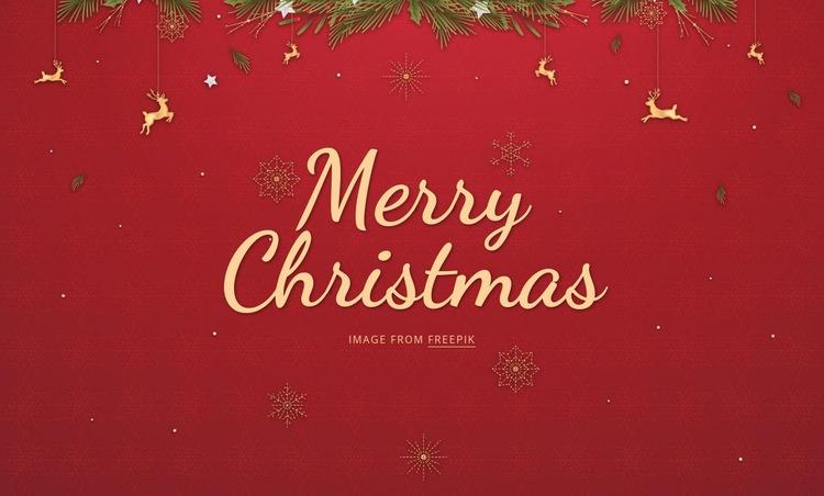 Merry Christmas Web Page Design