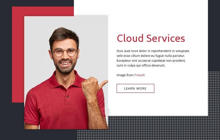 Cloud services Web Page Designer