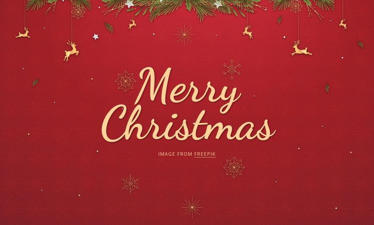 Merry Christmas Website Mockup