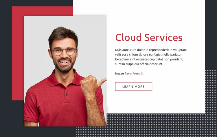 Cloud services Website Template