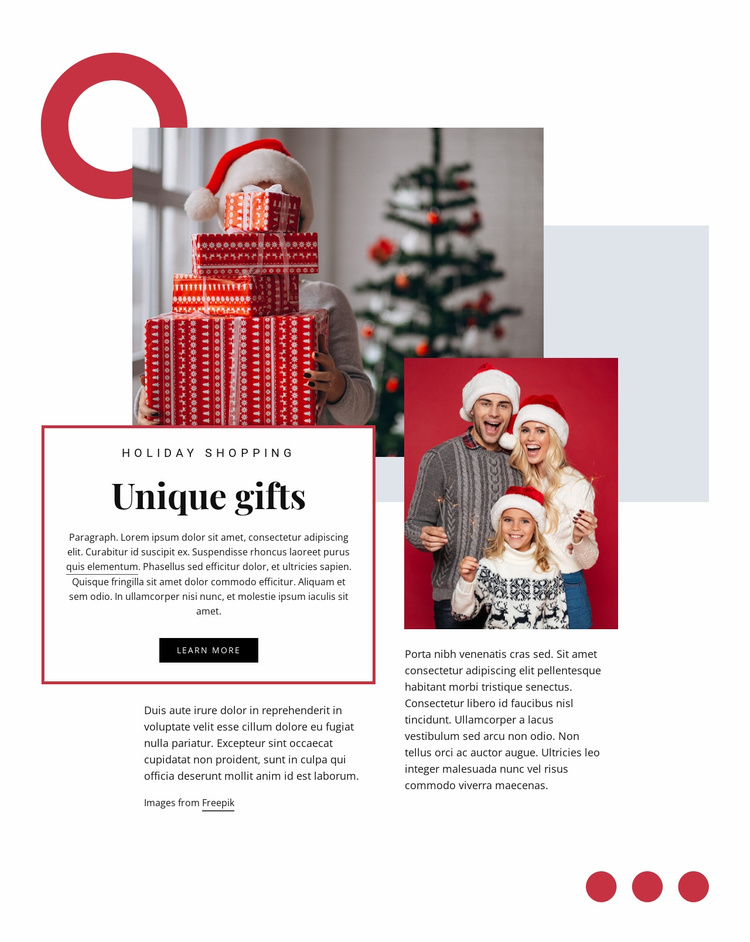 Unique gifts Website Template
