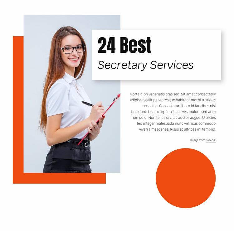 24 Best secretary services Html Website Builder