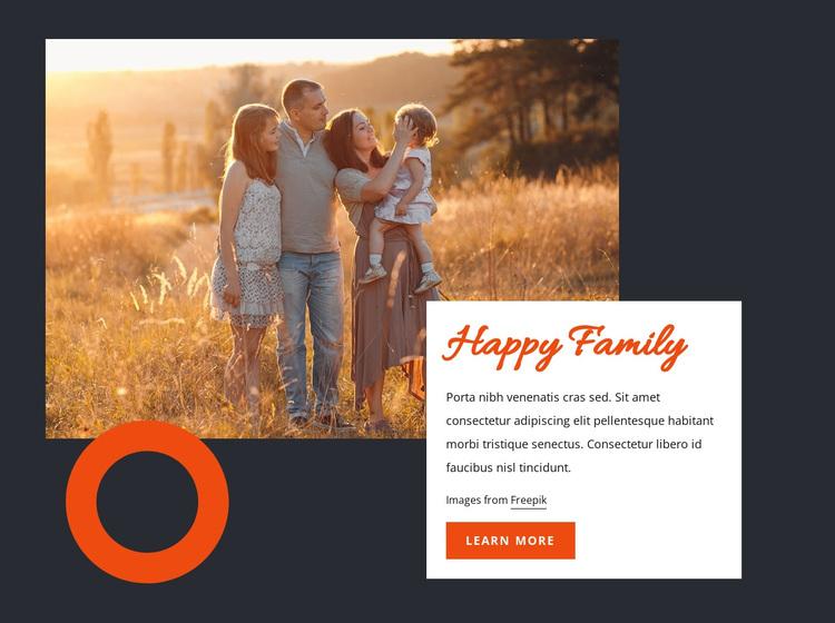 Happy family Joomla Page Builder