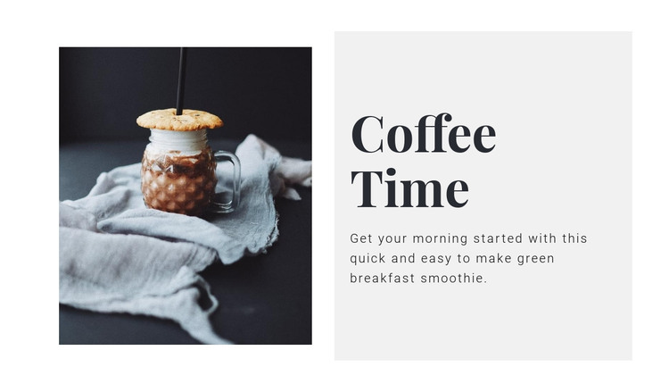 Coffee salon  Homepage Design