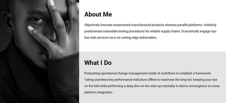About me and my work HTML Template