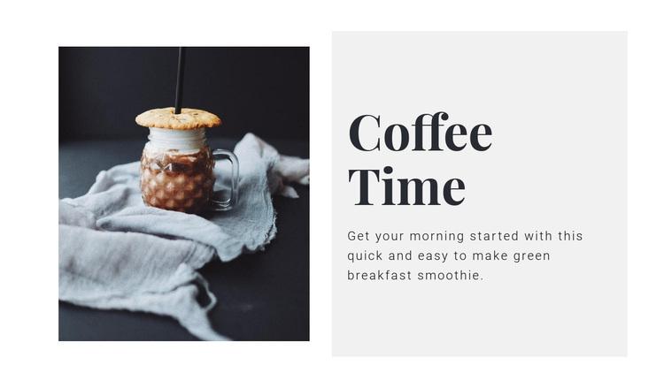 Coffee salon  Joomla Page Builder