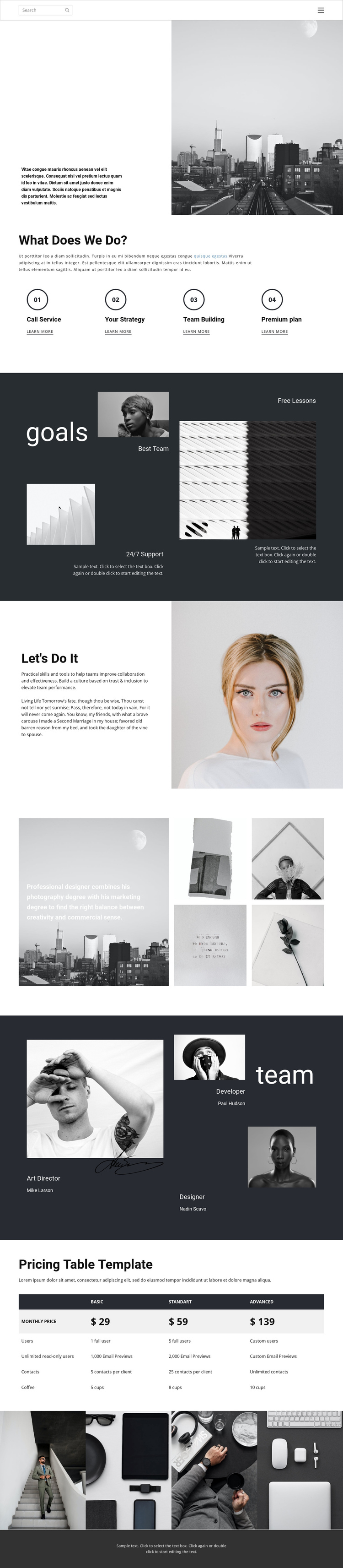 Business promotion agency One Page Template