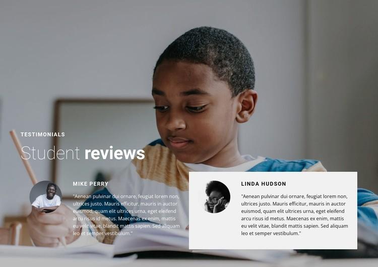 Student reviews Static Site Generator