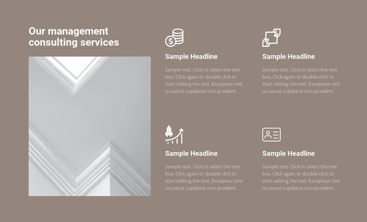 Management consulting services Website Mockup