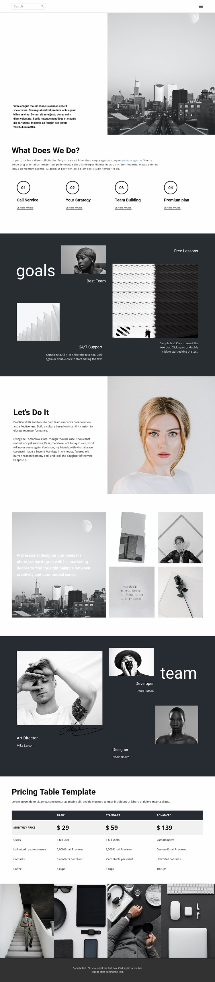 Business promotion agency Website Template