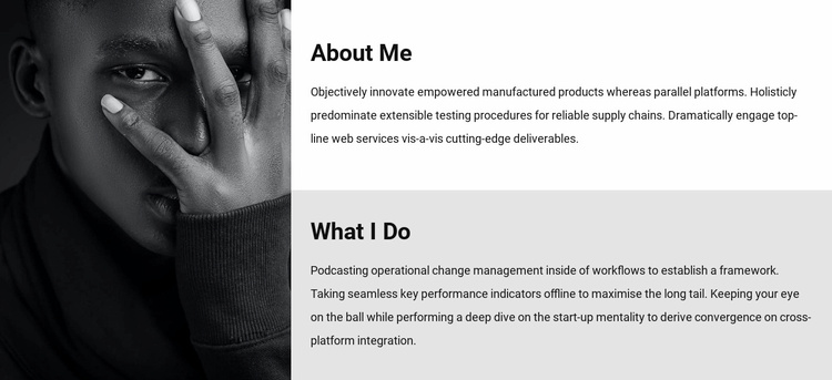 About me and my work Website Template