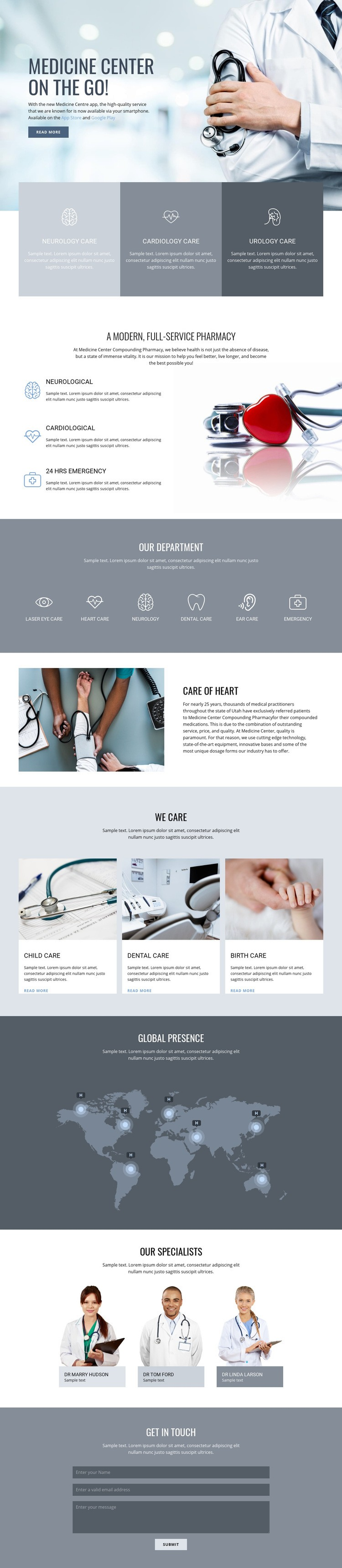 Pharmacy and medicine Html Code Example