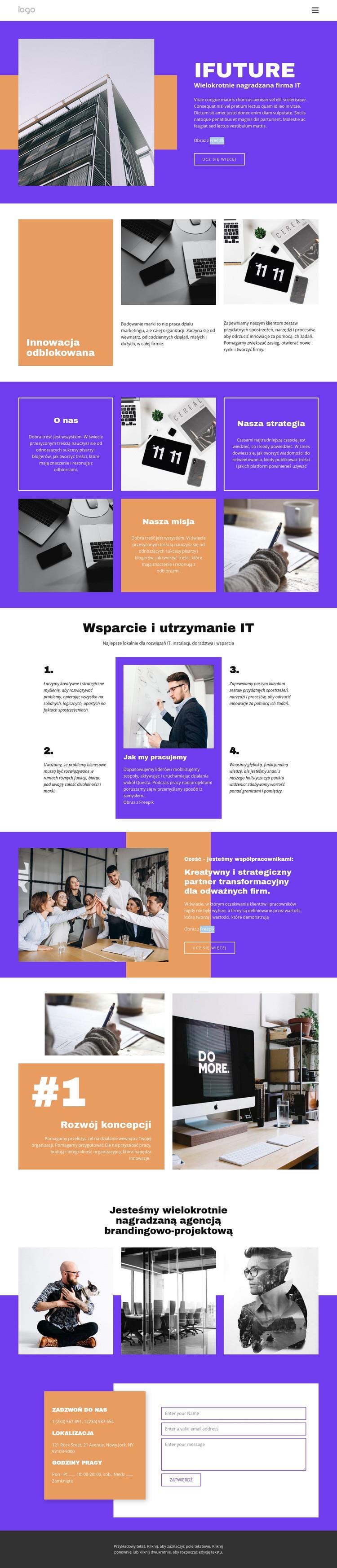 Wielokrotnie nagradzana firma IT Szablon witryny sieci Web