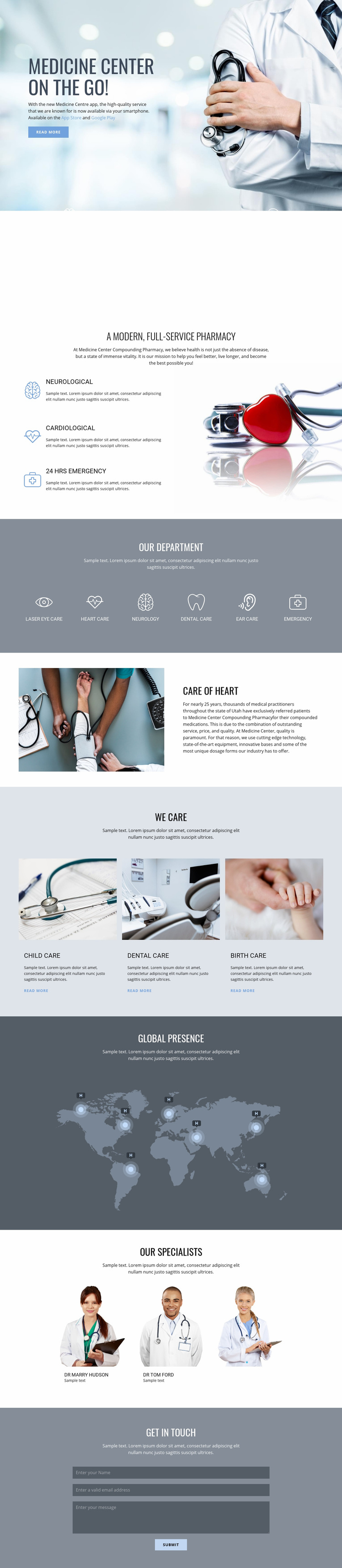 Pharmacy and medicine Web Page Designer