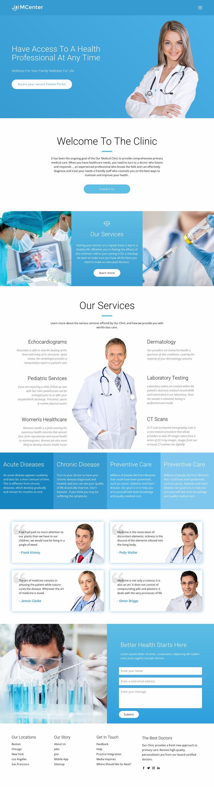 Pro health and medicine Website Mockup