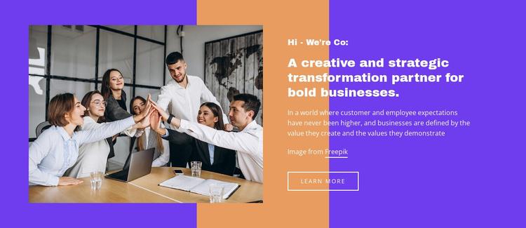Successful strategic transformation Website Template