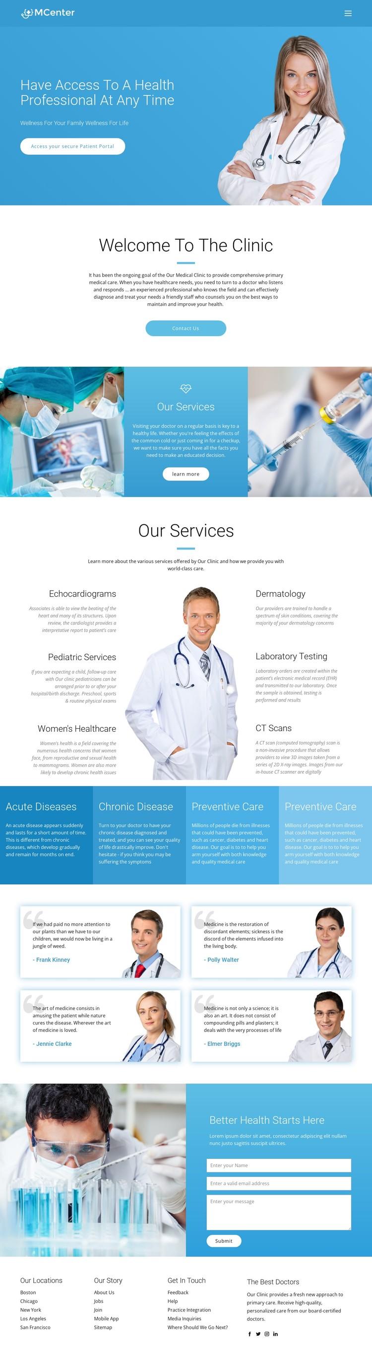 Pro health and medicine WordPress Template