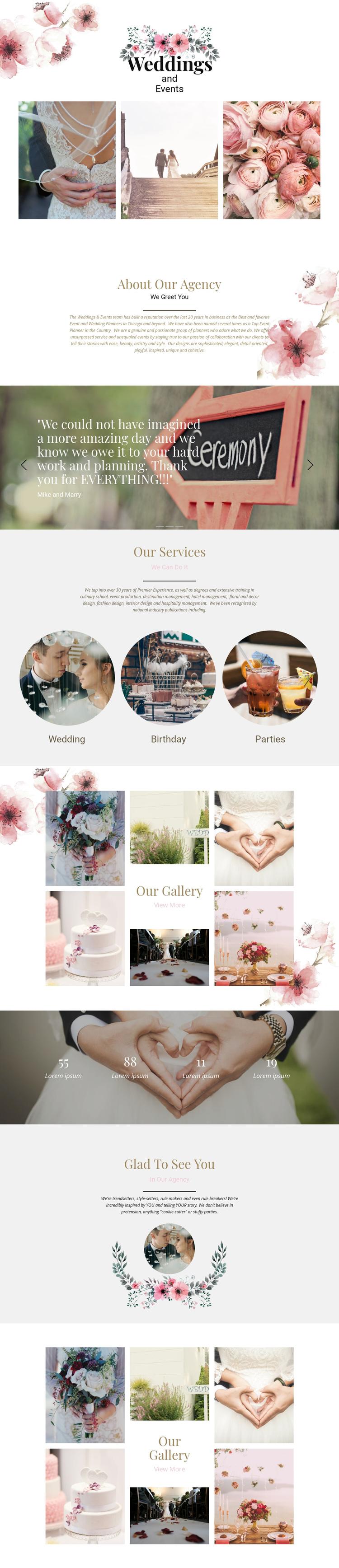 Moments of wedding Website Builder Software