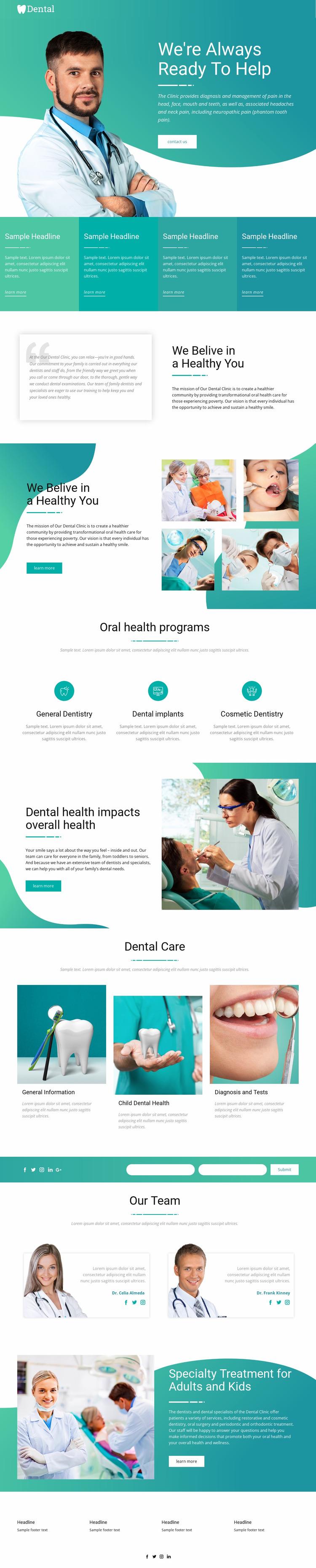 Serving and helping medicine Website Mockup