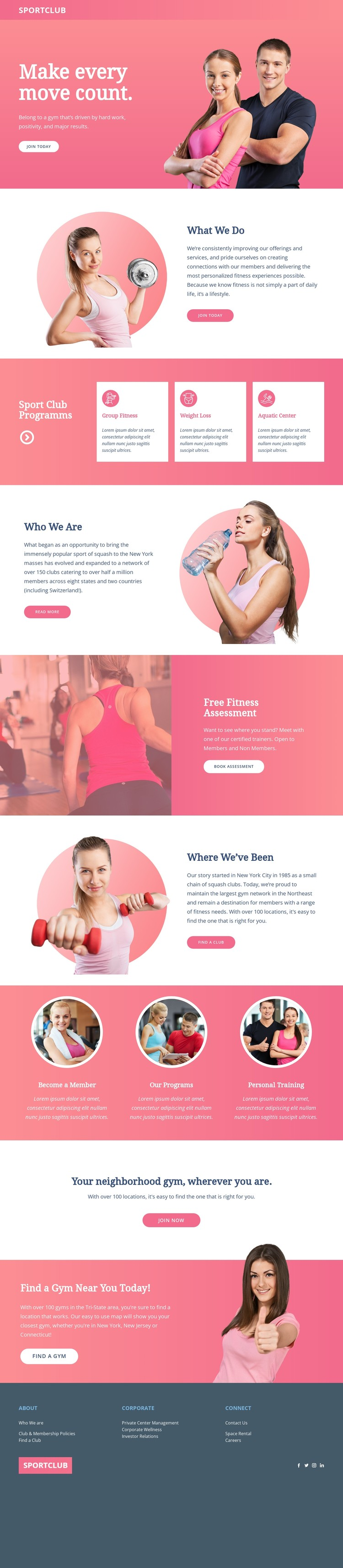 Personalized coaching CSS Template