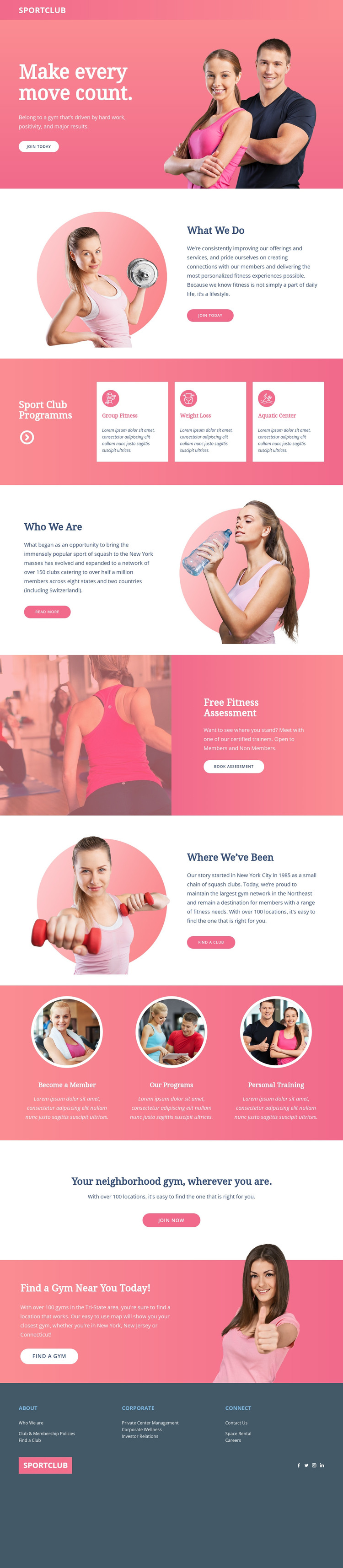 Personalized coaching HTML Template