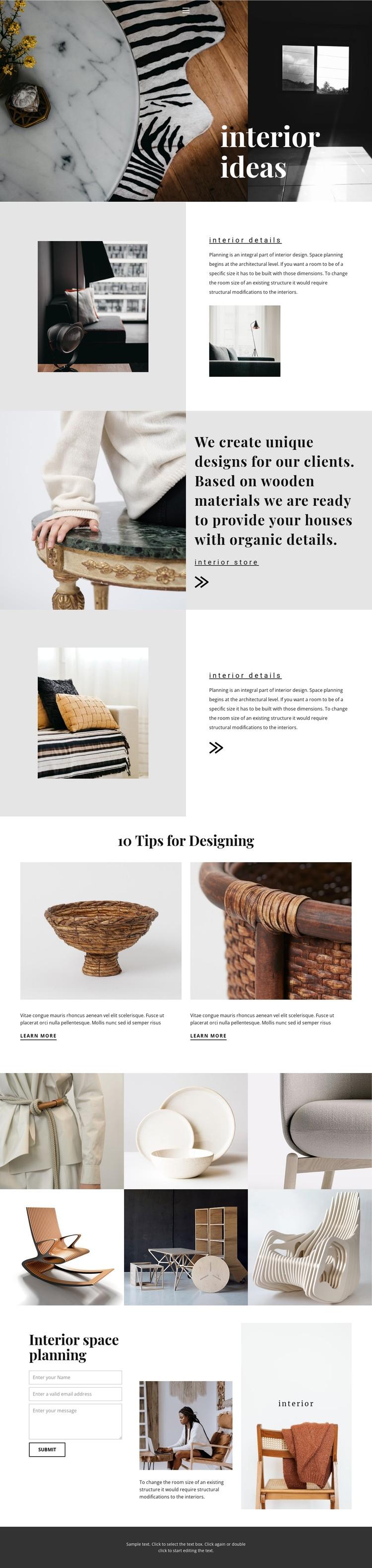 New interior ideas CSS Template