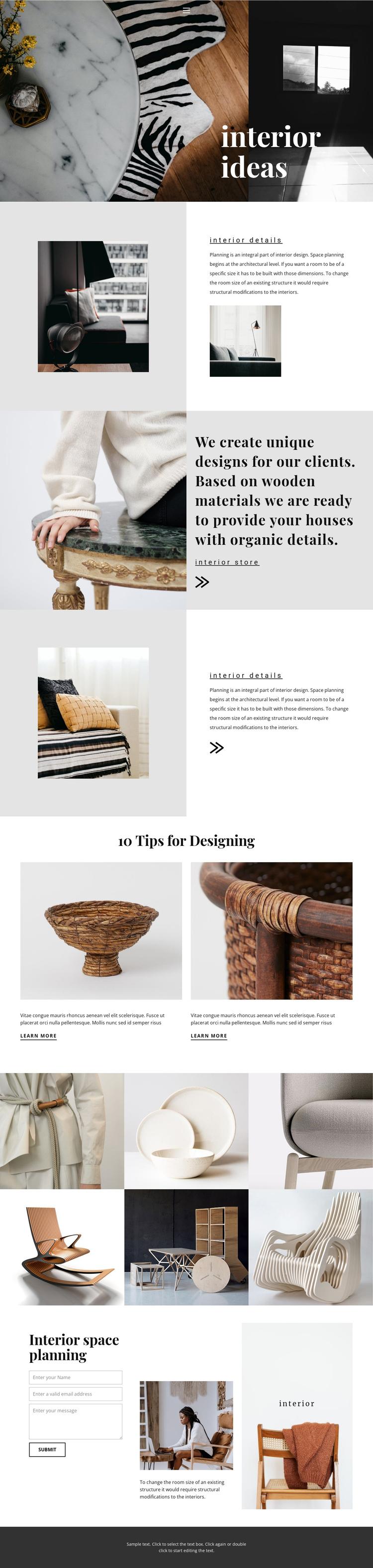 New interior ideas Website Builder Software
