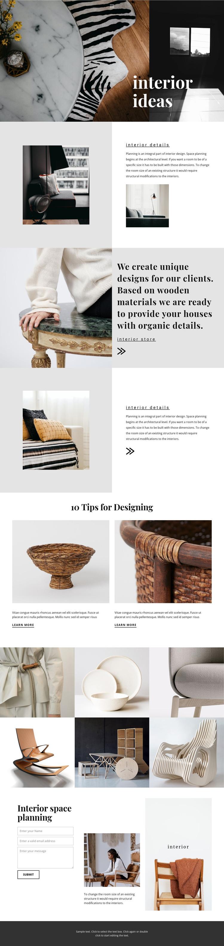 New interior ideas WordPress Theme