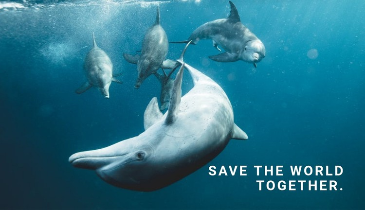 Save the ocean CSS Template