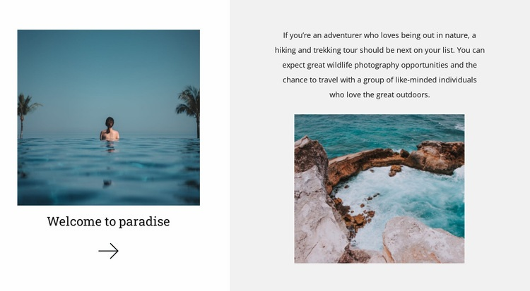 Uncharted paradise land Html Code Example