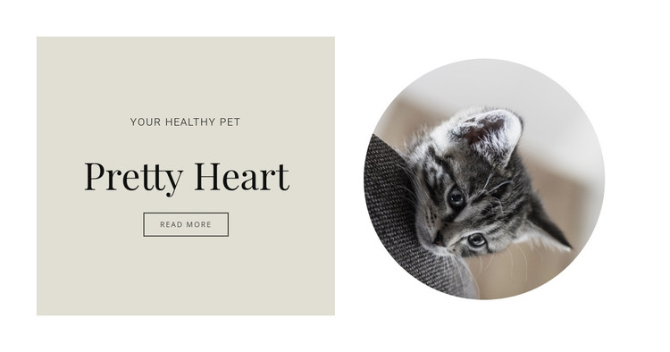 Treating pets HTML Template