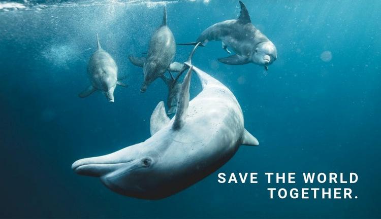 Save the ocean Web Page Designer