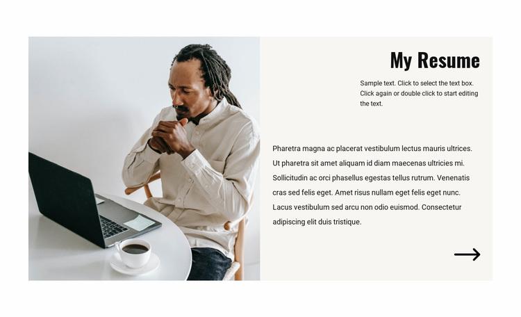 Manager resume Website Design