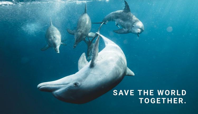 Save the ocean Website Mockup