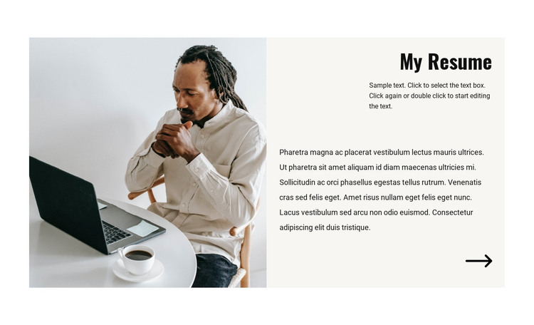 Manager resume WordPress Theme