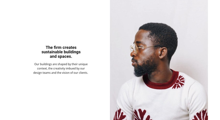 The firm creates sustainable buildings Woocommerce Theme