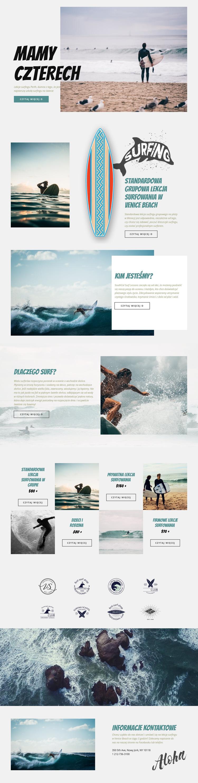 Surfing Szablon witryny sieci Web