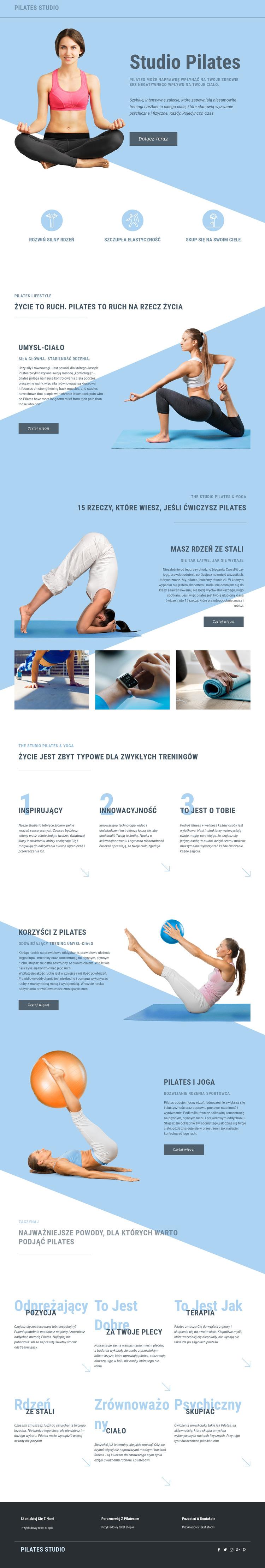 Studio pilates i sport Szablon witryny sieci Web