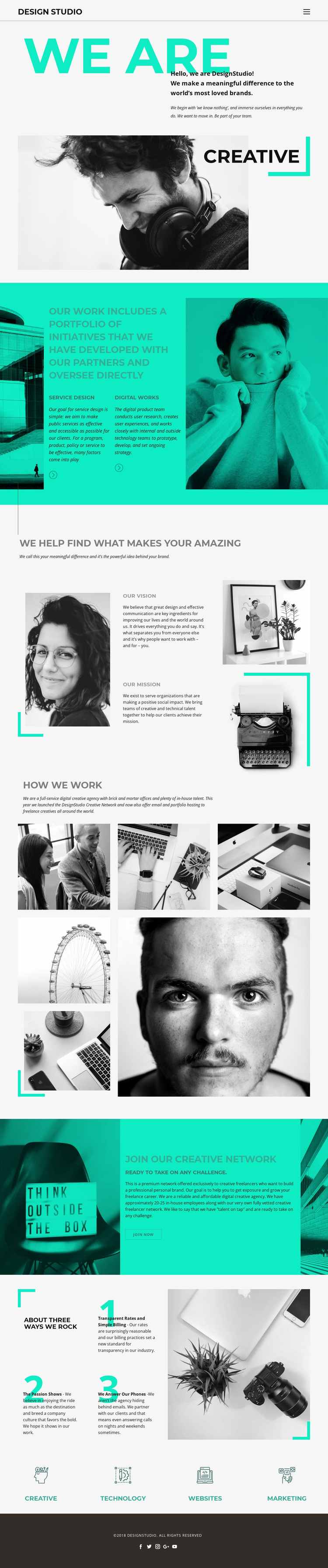 We are creative business Landing Page