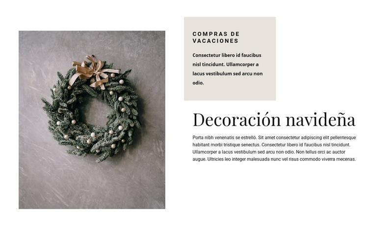 Decoración navideña Plantilla de sitio web