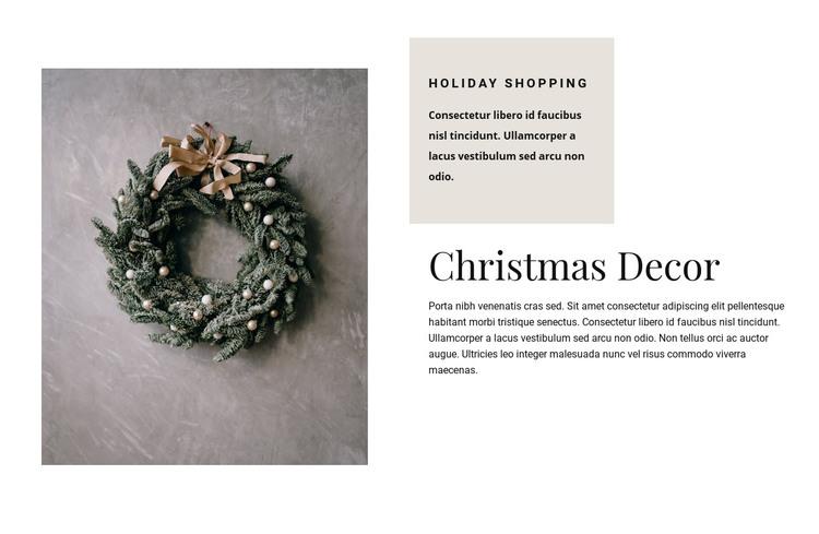 Christmas decor Homepage Design