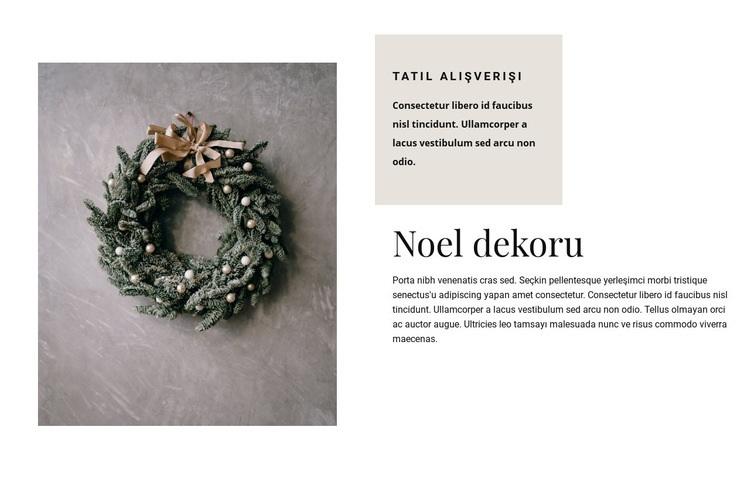 Noel dekoru Web Sitesi Şablonu