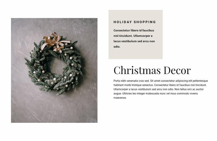 Christmas decor Website Template
