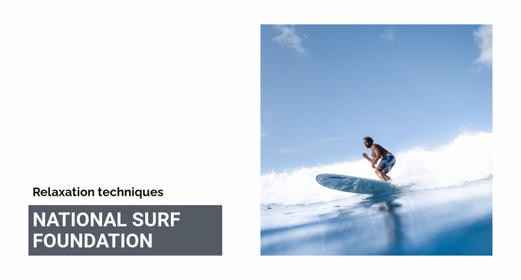 National surf foundation Landing Page