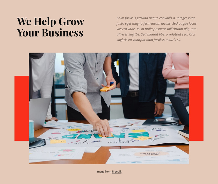 Marketing and sales Website Template