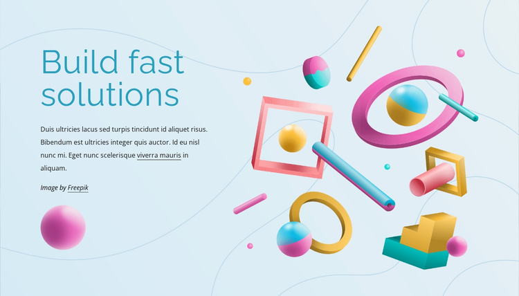 Build fast solutions Website Template