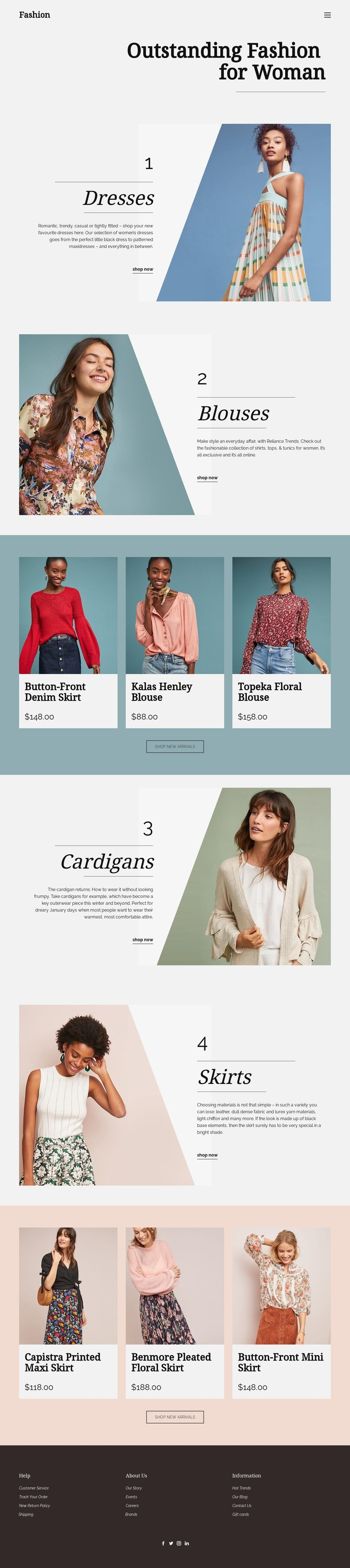 Fashion for Woman Html Code Example