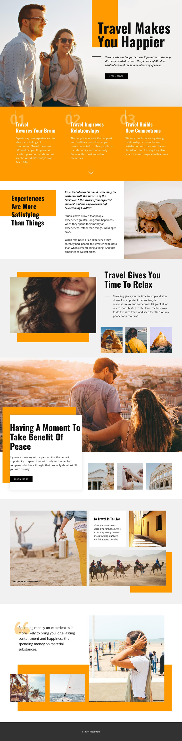 Travel Makes You Happier HTML Template