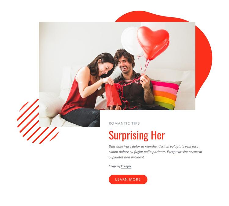 Surprizing her Website Builder Software